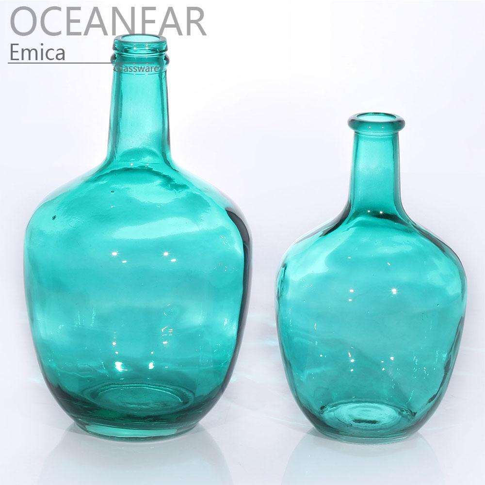 喷色大肚玻璃花瓶