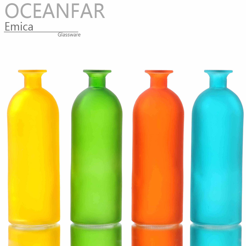 极好可爱蒙砂色装饰用玻璃花瓶