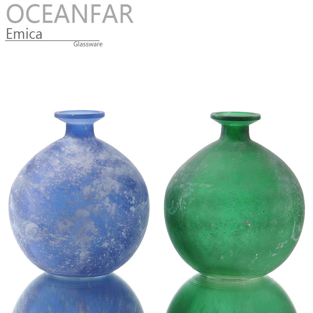 球形复古色玻璃花瓶