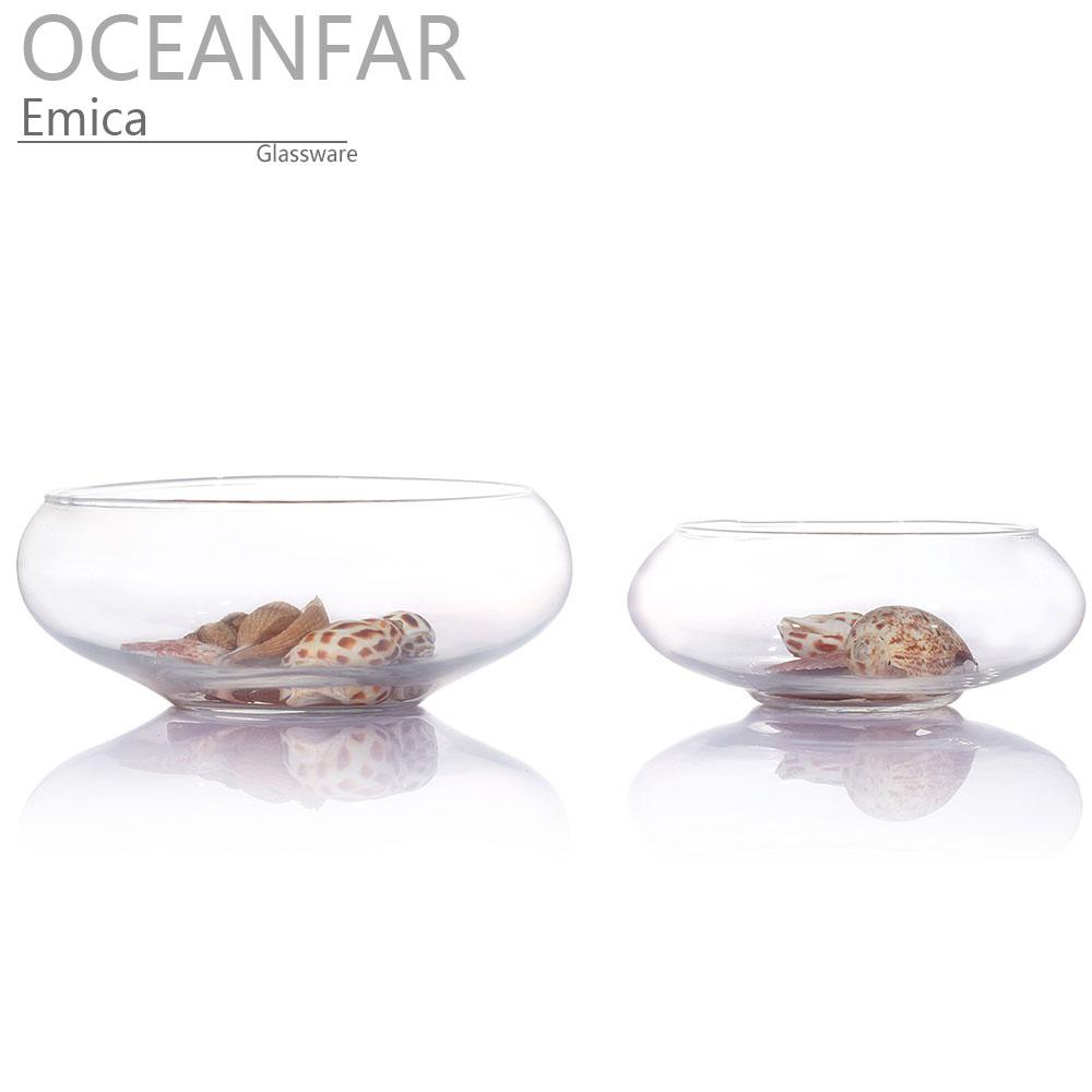 套二扁圆形玻璃鱼缸