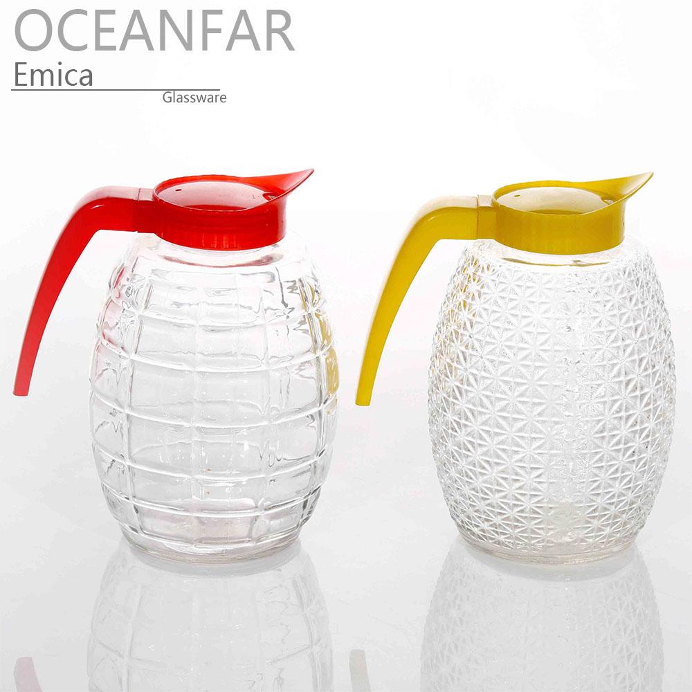 1600ml畅销透明钻石玻璃水升配彩色提手