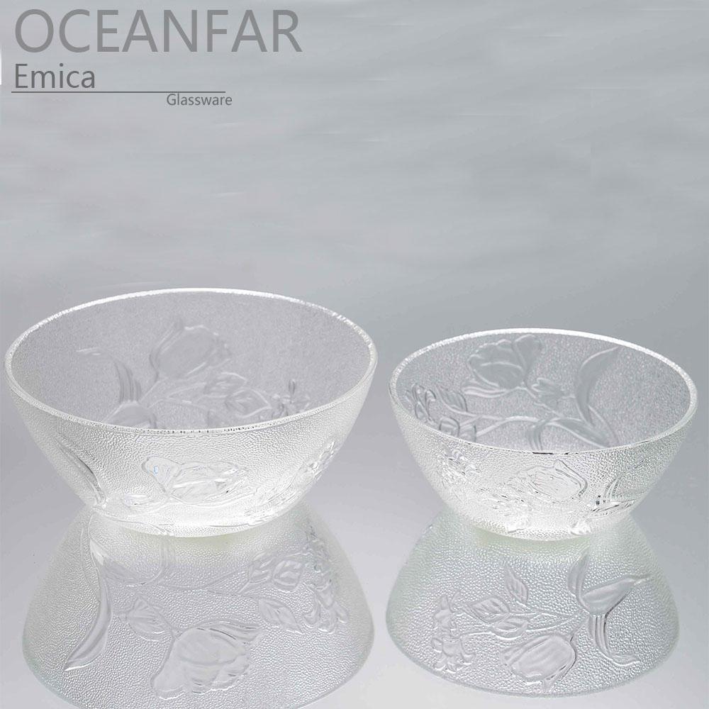 透明玫瑰玻璃碗